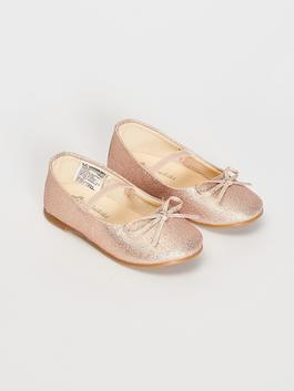 PINK - Baby Girl's Bow Knot Detailed Flats