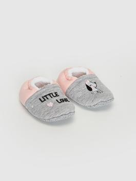 GREY - Baby Girl Embroidery Detailed Walking Shoes