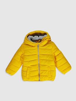 YELLOW - Baby Boy's Zip-Down Short Coat with Hood