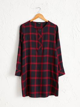 PINK - Chequered Loose Fit Tunic