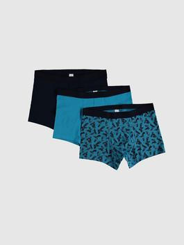 TURQUOISE - 3-pack Stretch Fabric Standard Fit Slip Boxers