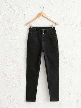 BLACK - High Waist Mom Jeans