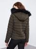 KHAKI - XSIDE Hooded Thick Puffer Coat - 0WCR32Z8