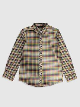 YELLOW - Boy's Chequered Poplin Shirt