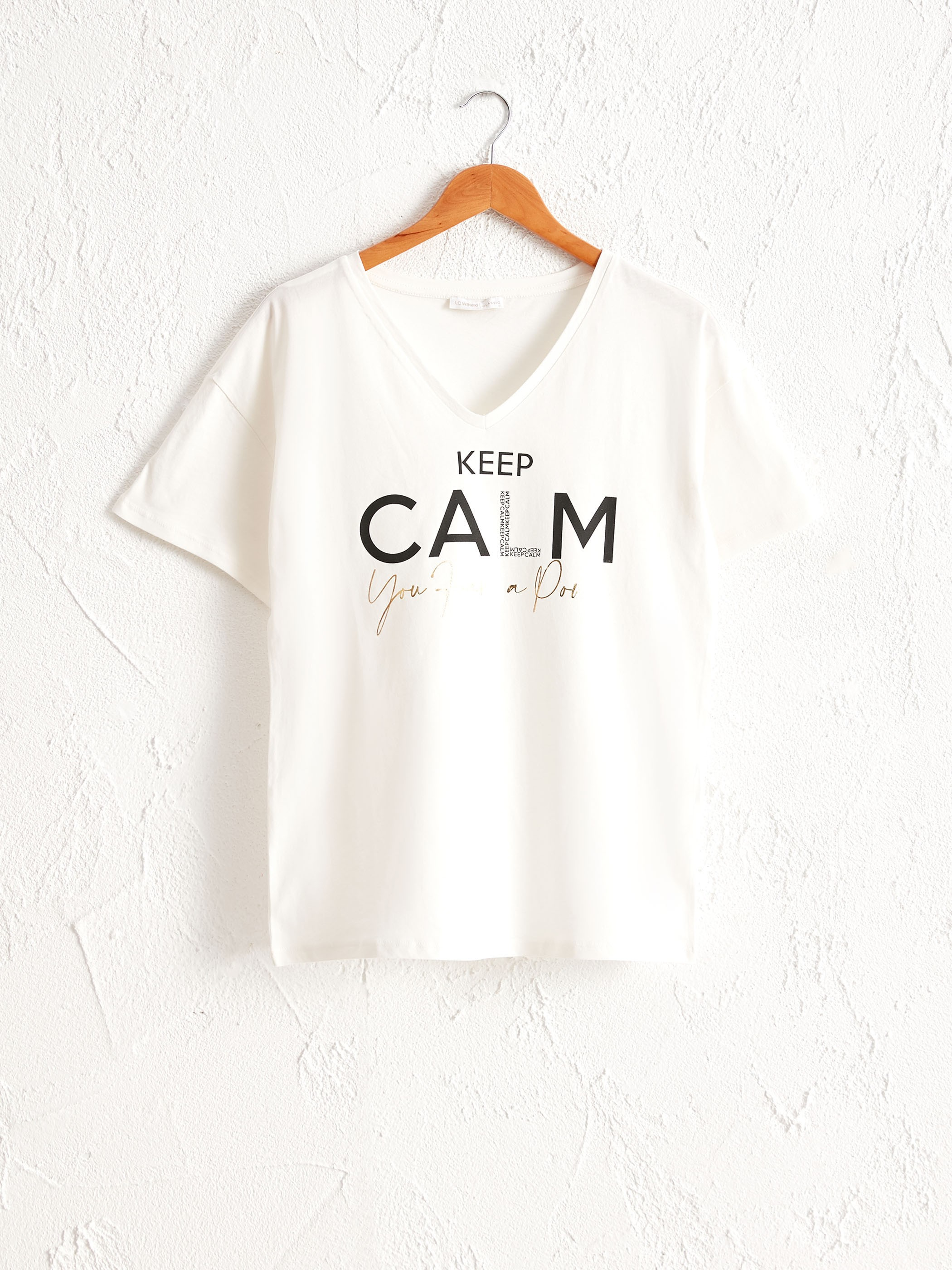 ECRU - Letter Printed Cotton T-Shirt - 0WCD25Z8