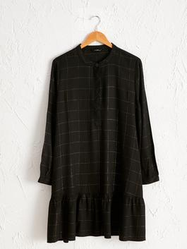 BLACK - Plaid Viscose Tunic