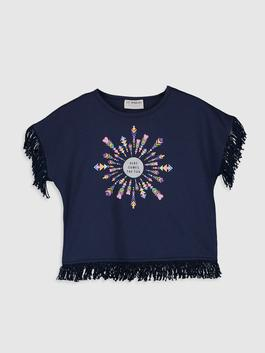 NAVY - Girl's Printed Cotton T-Shirt