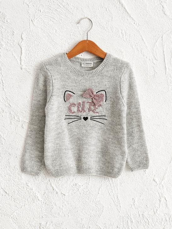 GREY - Girl's Heavy Tricot Jumper - 0W5096Z4