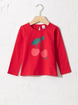 RED - Baby Girl's Printed T-Shirt