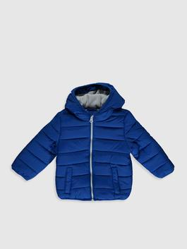 BLUE - Baby Boy's Zip-Down Short Coat with Hood