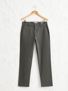 GREEN - Normal Fit Gabardine Chino Trousers
