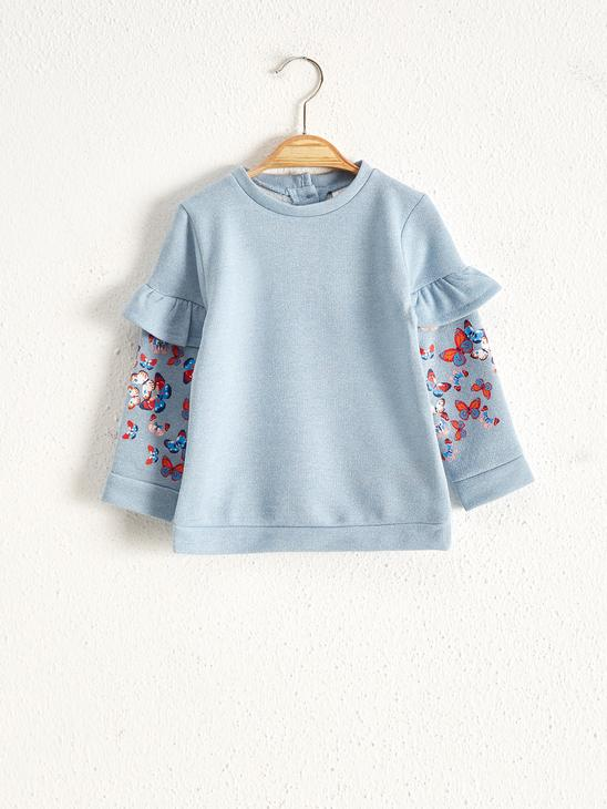 BLUE - Baby Girl's Printed Sweatshirt - 0WAL88Z1