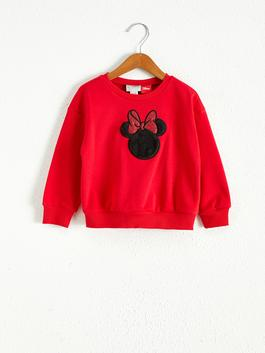 RED - Girl's Minnie Mouse Sweatshirt