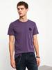 PURPLE - XSIDE Crew Neck Printed T-Shirt - 0WCT79Z8