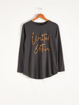 ANTHRACITE - Spangled Long Sleeve T-Shirt