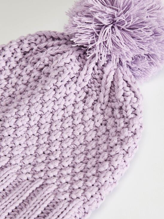 LILAC - Baby Girl's Tricot Scarf and Beret - 0WDM36Z1