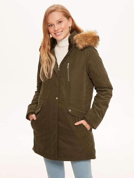 KHAKI - Heavy Parka with Hood - 0W0129Z8