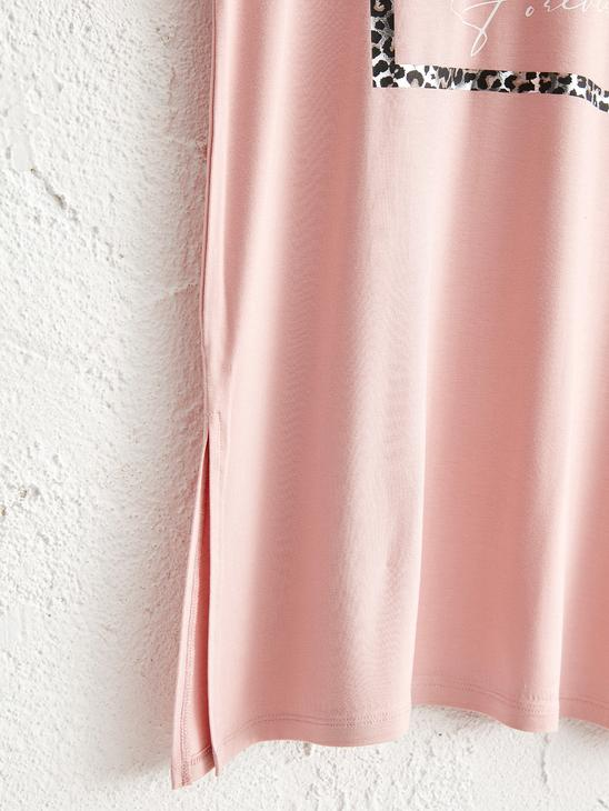 PINK - Printed Loose Fit T-Shirt - 0WCD63Z8