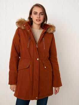 BROWN - Heavy Parka with Hood