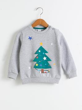 GREY - Baby Boy Christmas Themed Sweatshirt