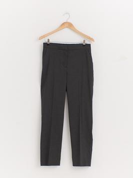 ANTHRACITE - Slim Fit Ankle Length Textured Trousers