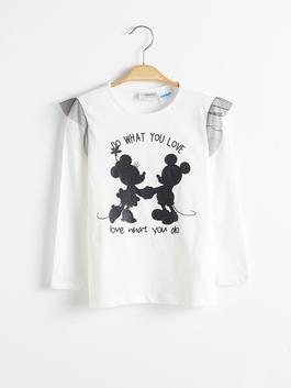 ECRU - Girl's Minnie Mickey Mouse Printed T-Shirt
