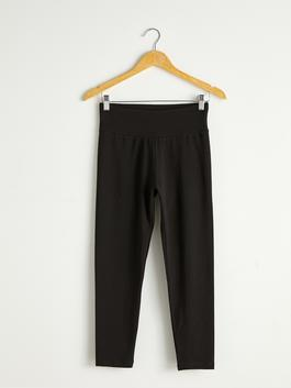 BLACK - Long Cotton Leggings