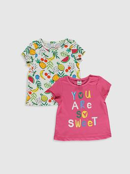 YELLOW - 2-pack Baby Girl's Printed T-Shirt