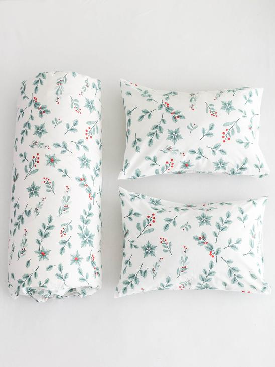 MIX - New Year Themed Double-Sided Duvet Cover Set - 0WCP96Z8
