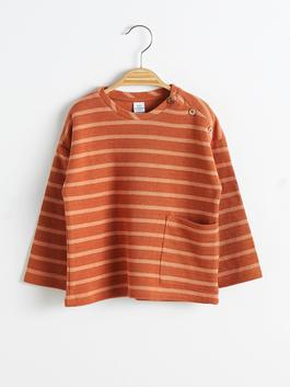 BROWN - Baby Boy's Striped T-Shirt