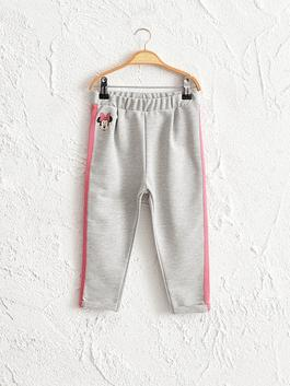 GREY - Baby Girl Minnie Mouse Printed Trousers