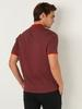 ORANGE - Polo Neck Short Sleeve Combed Cotton T-Shirt - 0SQ127Z8