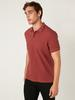 RED - Polo Neck and Short Sleeve Cotton T-Shirt - 0SQ118Z8