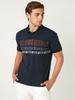 NAVY - Polo Neck Short Sleeve Combed Cotton T-Shirt - 0SQ137Z8