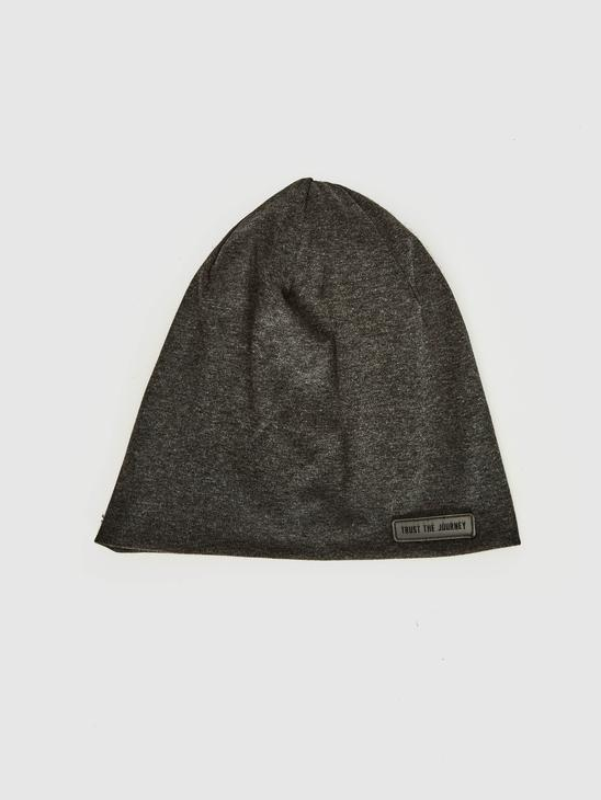 ANTHRACITE - Antibacterial Lettering Printed Knitwear  Beanie - 0W9077Z8