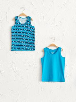 TURQUOISE - 2-pack Boy's Cotton Tank Top