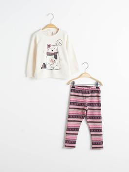 PINK - Baby Girl's Sweatshirt and Leggings