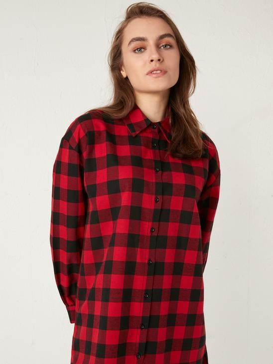 RED - Patterned Oversized Tunic - 0WFO39Z8