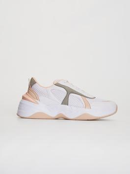 WHITE - Women's Thick Sole Casual Trainers