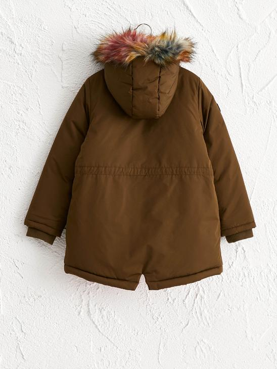 KHAKI - Girl's Coat with Hood - 0W1785Z4