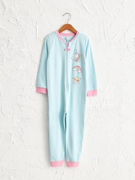 BLUE - Girl's Printed Jumpsuit
