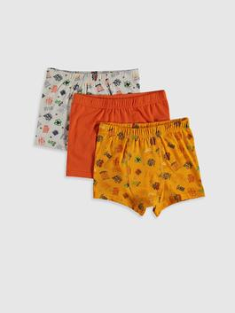 WHITE - 3-pack Boy's Cotton Boxers