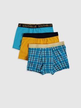 NAVY - 3-pack Boy's Cotton Boxers