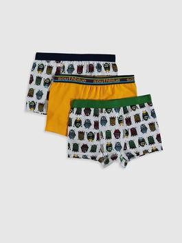 WHITE - 3-pack Boy's Boxers