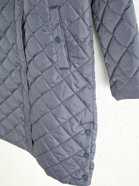 BLUE - Quilted Long Jacket - 0WCB21Z8