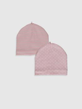 PINK - 2-pack Baby Girl's Beret
