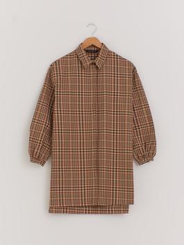 BROWN - Patterned Oversized Tunic