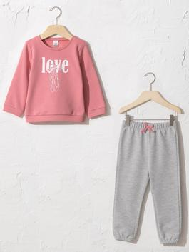 PINK - Baby Girl's Sweatshirt and Trousers