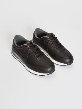 BLACK - Boy's Lace-up Trainers
