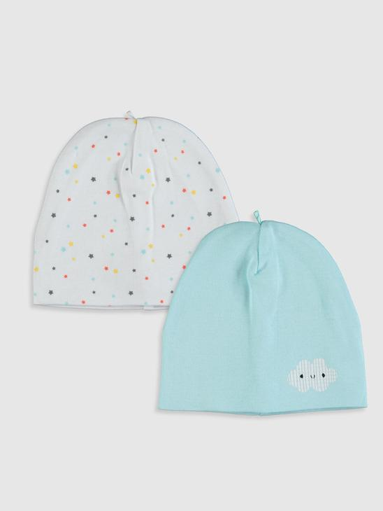 TURQUOISE - 2-pack Baby Boy's Beret - 9W2718Z1